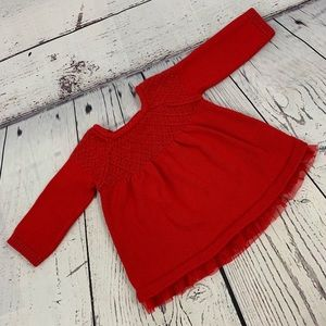 Cat and Jack red sweater dress sparkle